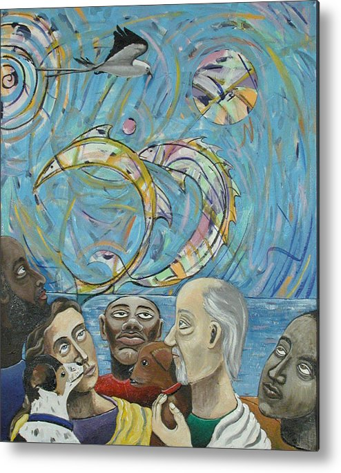Humanity Metal Print featuring the painting Common View by Rollin Kocsis