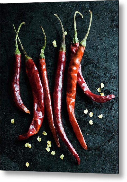 California Metal Print featuring the photograph Dried Chilli Peppers by Jack Andersen