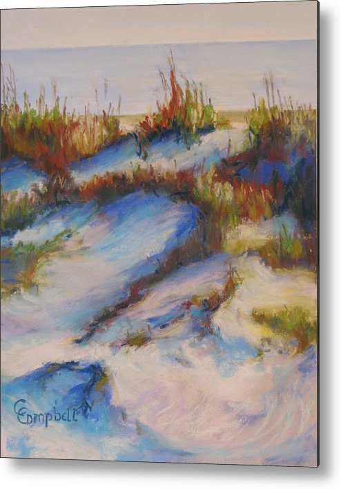Beach Dunes Metal Print featuring the painting Drifting Dunes by Cecelia Campbell