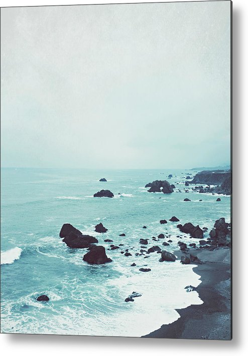 Beach Photograph Metal Print featuring the photograph Dusk at the Sea by Lupen Grainne