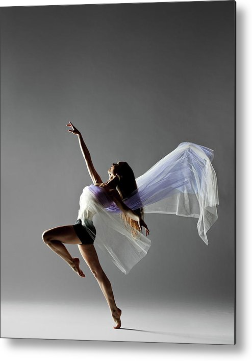 Expertise Metal Print featuring the photograph Fabric Dance by Copyright Christopher Peddecord 2009