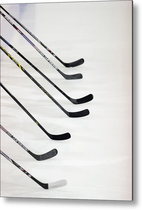 Generic Metal Print featuring the photograph Finland V Usa Blue - 2014 Usa Hockey by Bruce Bennett