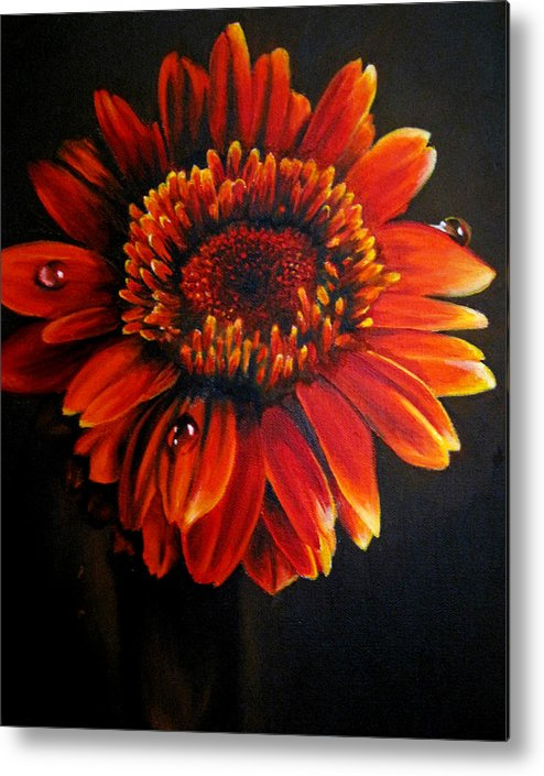 Floral Metal Print featuring the painting Flora by Stephanie LeVasseur