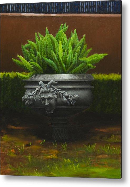 Garden Metal Print featuring the painting Garden Satyr by Gary Hernandez