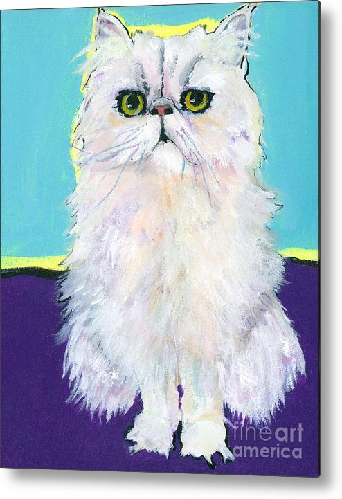 Pat Saunders-whte Metal Print featuring the painting Cameo by Pat Saunders-White