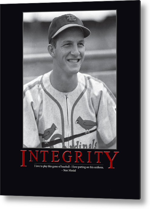 Giant Inspiration Metal Print featuring the photograph Integrity Stan Musial by Retro Images Archive