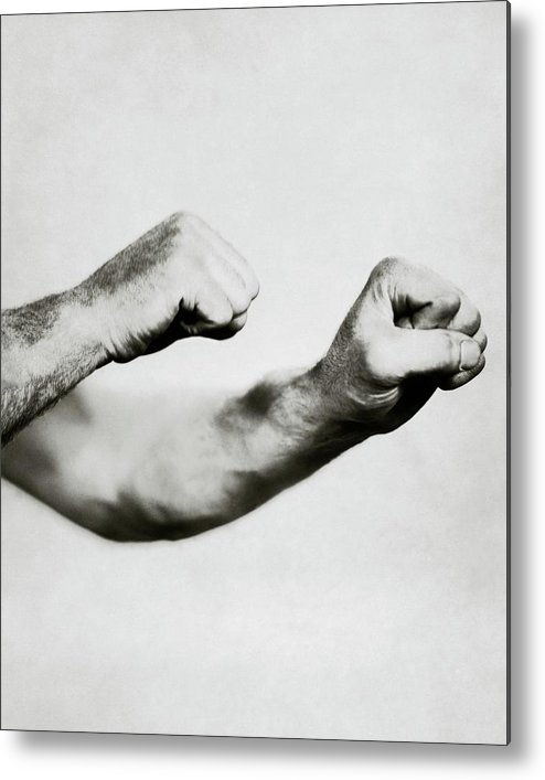 Sport Metal Print featuring the photograph Jack Dempsey's Hands by Ira L. Hill