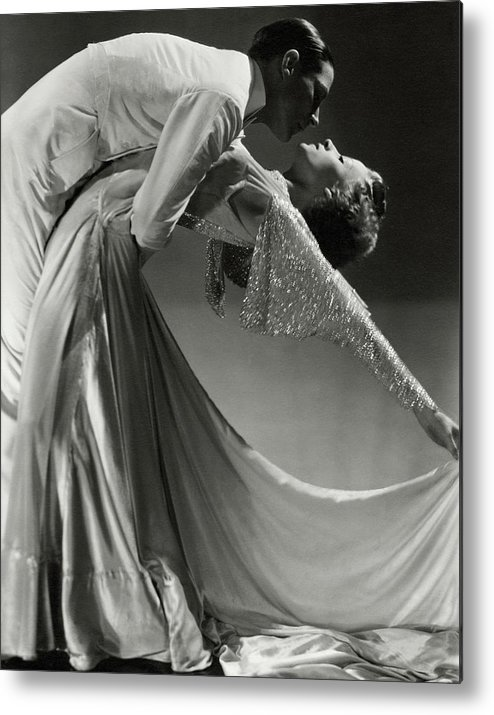 Dance Metal Print featuring the photograph Jack Holland And June Hart Dancing by Horst P. Horst