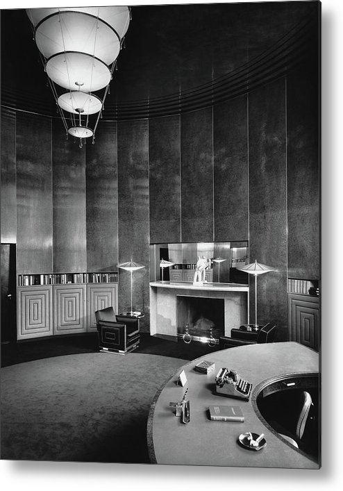Interior Metal Print featuring the photograph Katharine Brush's Study by F. S. Lincoln