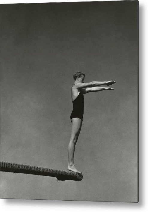 Exterior Metal Print featuring the photograph Katherine Rawls Getting Ready To Dive by Edward Steichen