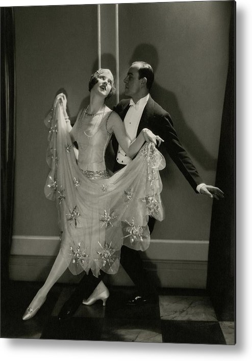 Beauty Metal Print featuring the photograph Maurice Mouvet And Leonora Hughes Dancing by Edward Steichen