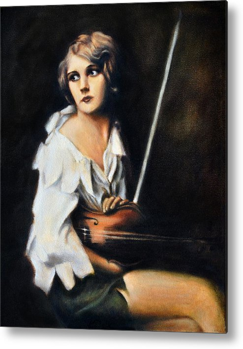 Realistic Metal Print featuring the painting Melody by Maxx Phoenixx