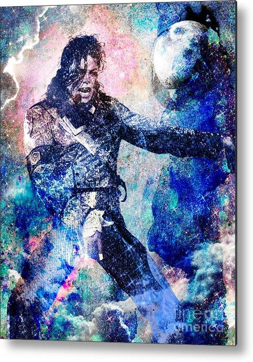 Rock Metal Print featuring the painting Michael Jackson Original Painting by Ryan Rock Artist