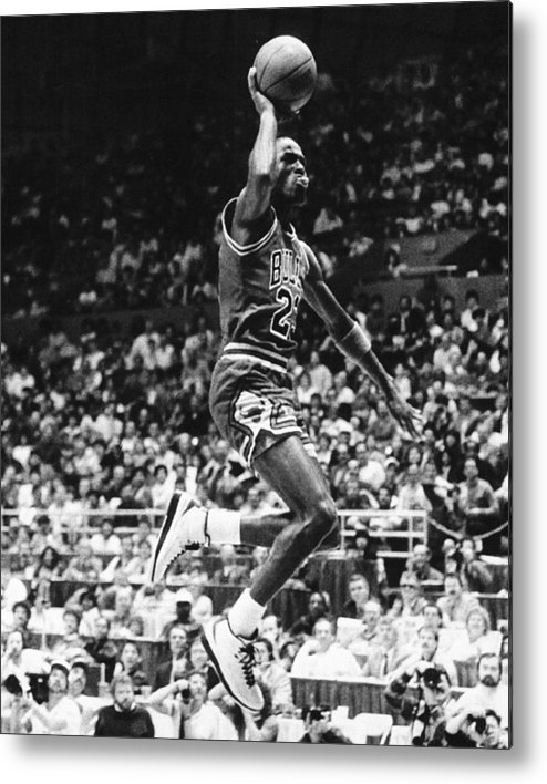 Classic Metal Print featuring the photograph Michael Jordan Gliding by Retro Images Archive