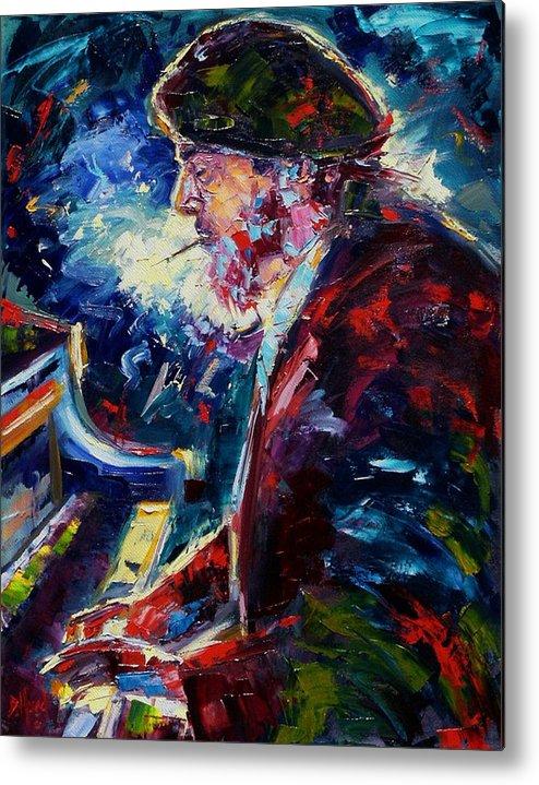 Blues Metal Print featuring the painting Night Tripper by Debra Hurd