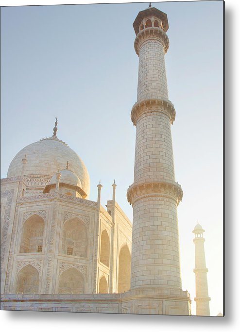 Arch Metal Print featuring the photograph Partial View Taj Mahal by Grant Faint