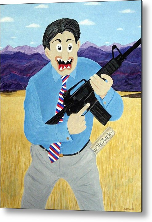 Patriot Metal Print featuring the painting Patriot by Sal Marino