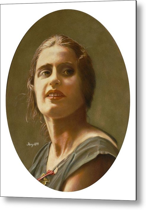 Portrait Of Ayn Rand Metal Print featuring the painting Portrait of Ayn Rand by Robert Tracy