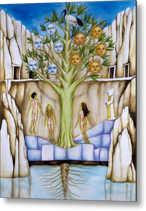 Resurrection Metal Print featuring the painting Resurrection Island by Rebecca Barham