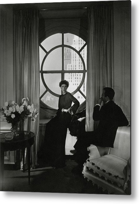 Accessories Metal Print featuring the photograph Rose Hobart Standing By A Window by Edward Steichen