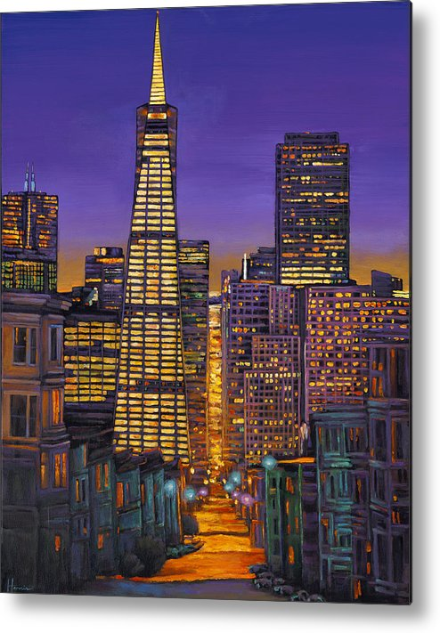 Cityscape Metal Print featuring the painting San Francisco by Johnathan Harris