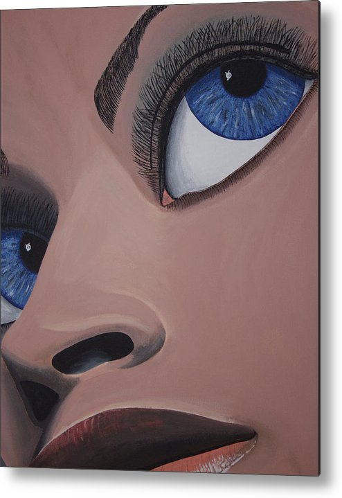 Eye Catching Metal Print featuring the painting SHE by Dean Stephens