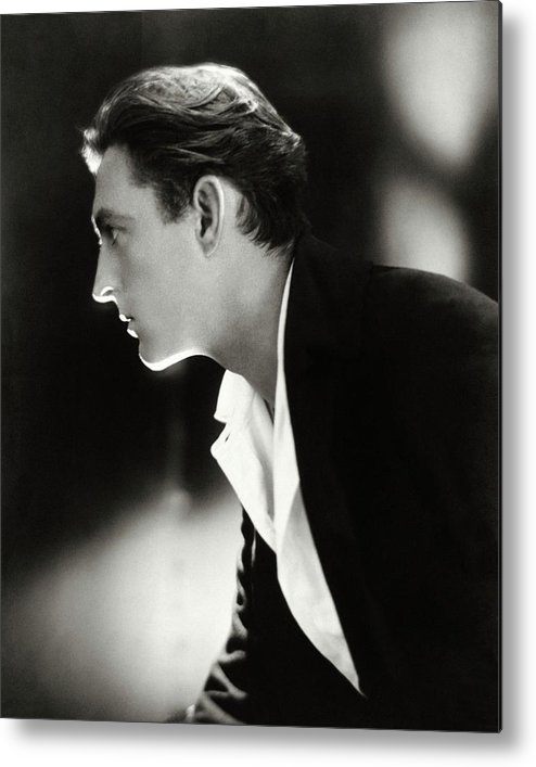 Actor Metal Print featuring the photograph John Barrymore in Profile by Adolphe De Meyer
