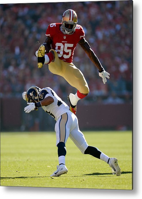 Candlestick Park Metal Print featuring the photograph St Louis Rams V San Francisco 49ers by Thearon W. Henderson