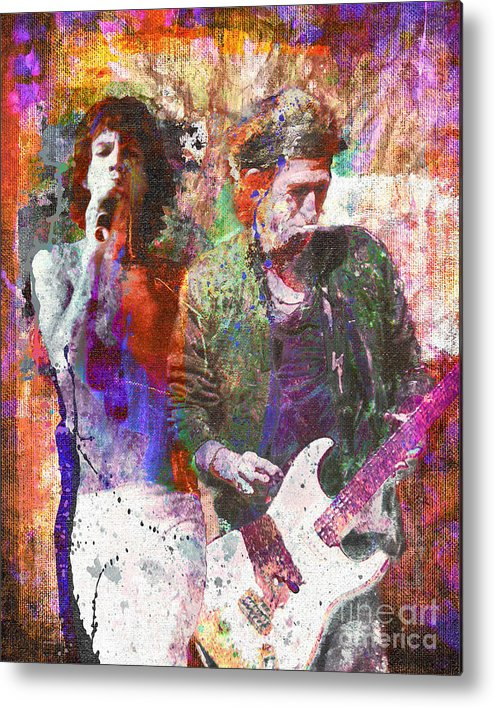 Rock Metal Print featuring the painting The Rolling Stones Original Painting Print by Ryan Rock Artist