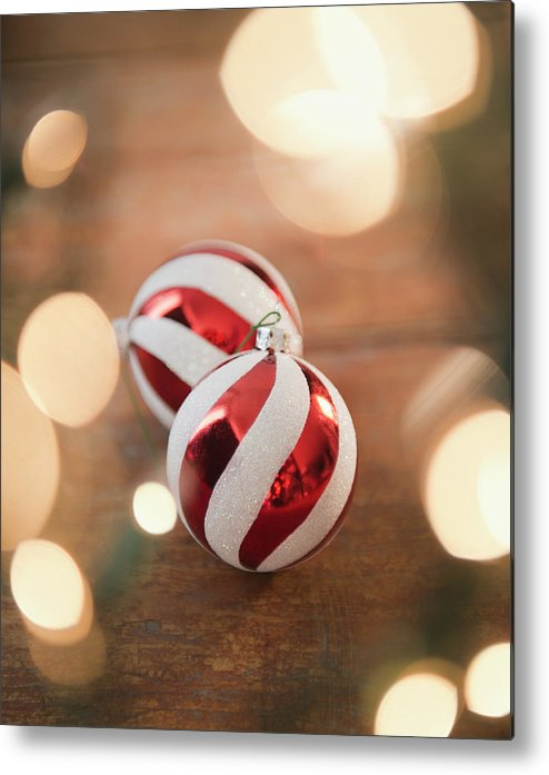 Christmas Ornament Metal Print featuring the photograph Usa, New Jersey, Jersey City, Christmas by Jamie Grill
