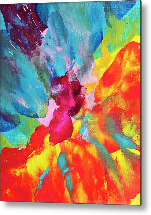 Art Metal Print featuring the digital art Vivid Multicolored Abstract Art On by Cstar55
