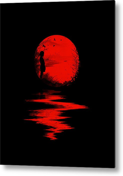 Art Metal Print featuring the digital art The Land of the Rising Sun by Nicebleed