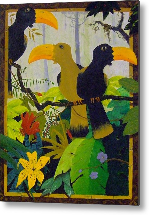 Jungle Metal Print featuring the painting Jungle Boogie by Patrick Trotter