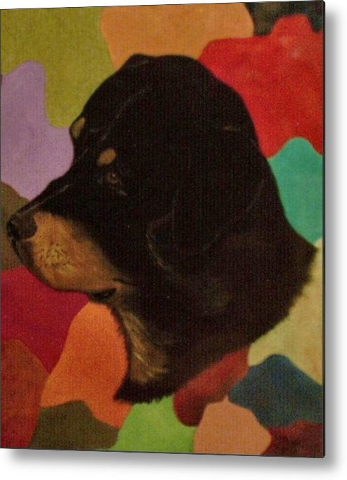 Dogs Metal Print featuring the painting Dog in Art by Guillermo Mason