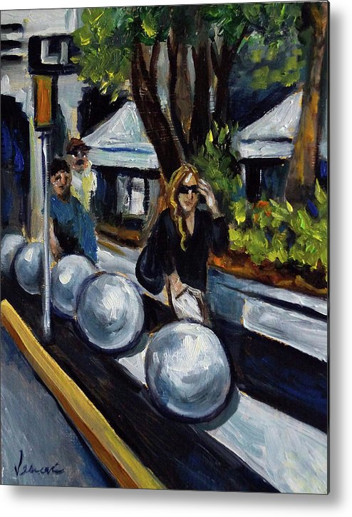Sobe Metal Print featuring the painting Lincoln Road by Valerie Vescovi