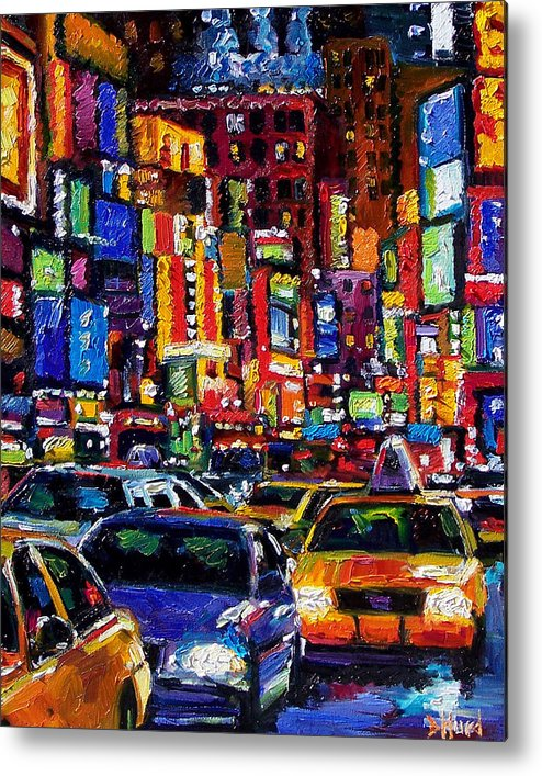 New York City Metal Print featuring the painting New York City by Debra Hurd
