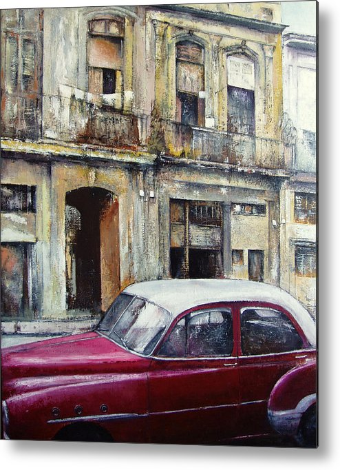 Old Havana Metal Print featuring the painting old Havana by Tomas Castano