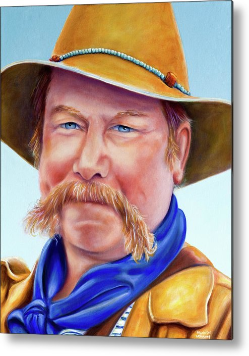 Man Metal Print featuring the painting Santana Jack by Shannon Grissom