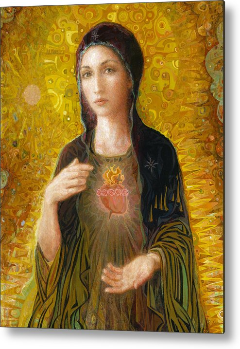 Mary Metal Print featuring the painting Immaculate Heart of Mary by Smith Catholic Art