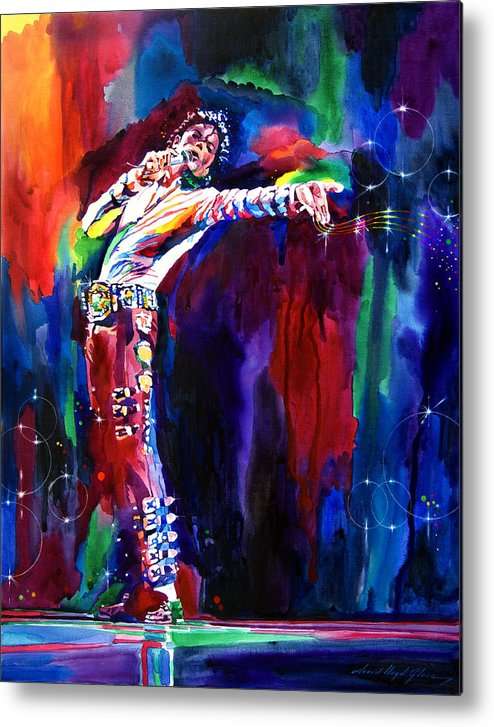 Michael Jackson Metal Print featuring the painting Jackson Magic by David Lloyd Glover