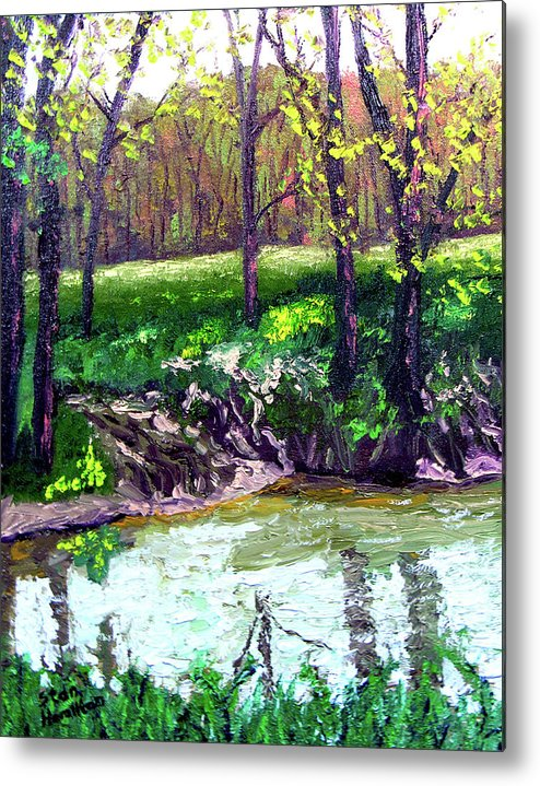 Plein Air Metal Print featuring the painting 4 28 by Stan Hamilton