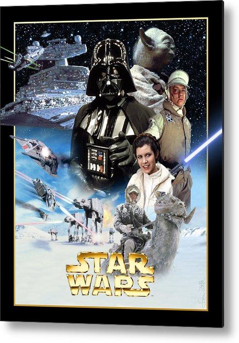 Star Wars Episode V The Empire Strikes Back 1980 Metal Print By Geek N Rock