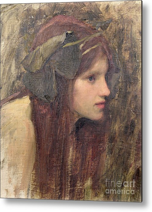 Naiad Metal Print featuring the painting A Study For A Naiad by John William Waterhouse
