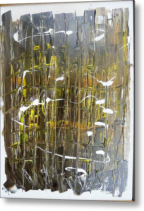 911 Metal Print featuring the painting Abstract 911 by Martha Mullins