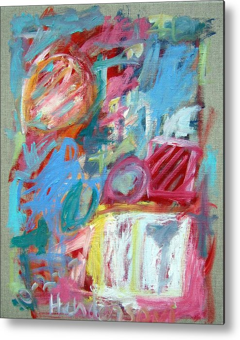 Abstract Metal Print featuring the painting Abstract Composition 2 by Michael Henderson