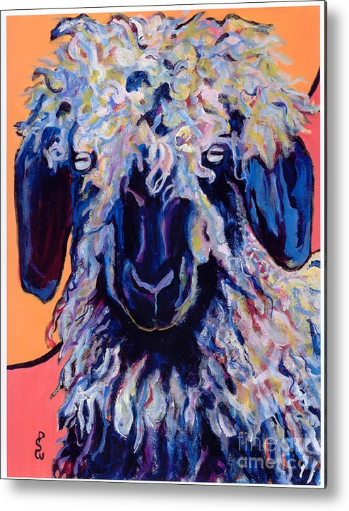 Goat Print Metal Print featuring the painting Adelita  by Pat Saunders-White