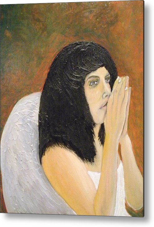 She Prays For All Mankind Metal Print featuring the painting Annolita Praying by J Bauer