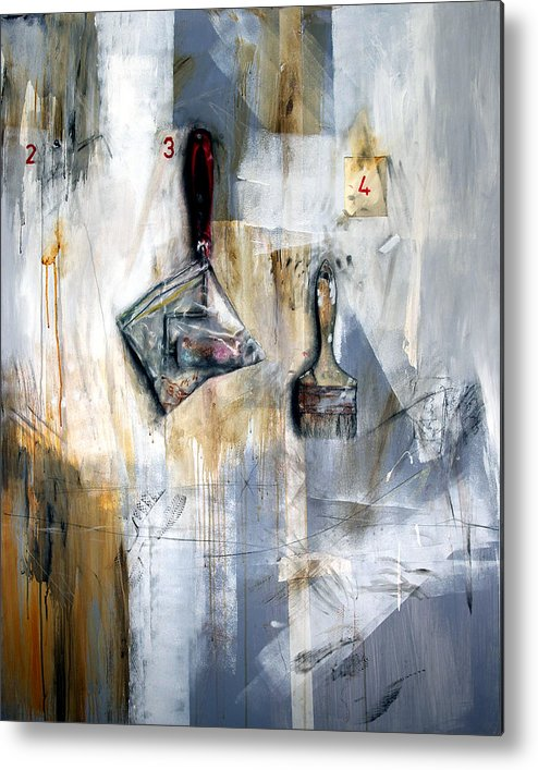 Painting Tools Metal Print featuring the painting Artist Tools by Leyla Munteanu