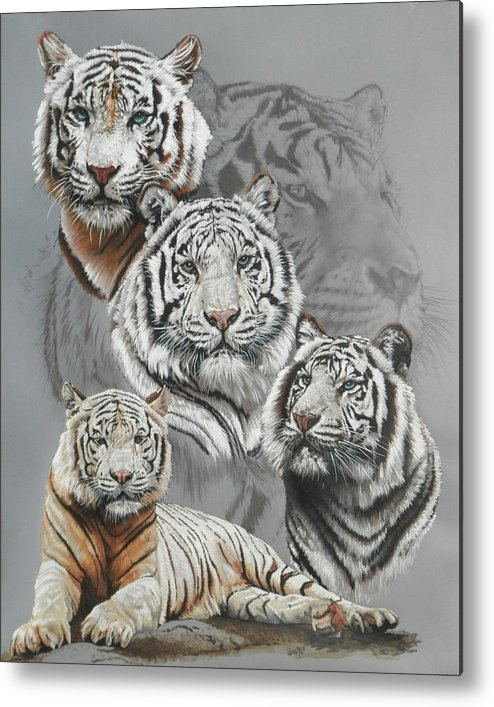 Tiger Metal Print featuring the mixed media Baron by Barbara Keith