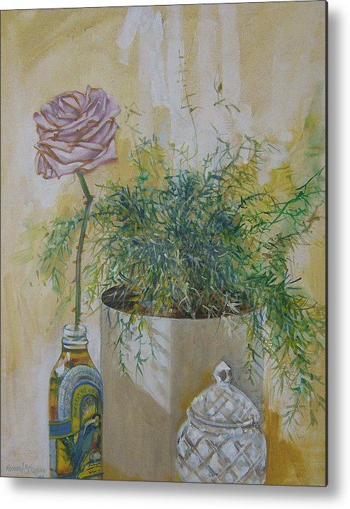 Rose Metal Print featuring the painting Before the Fall by Howard Stroman